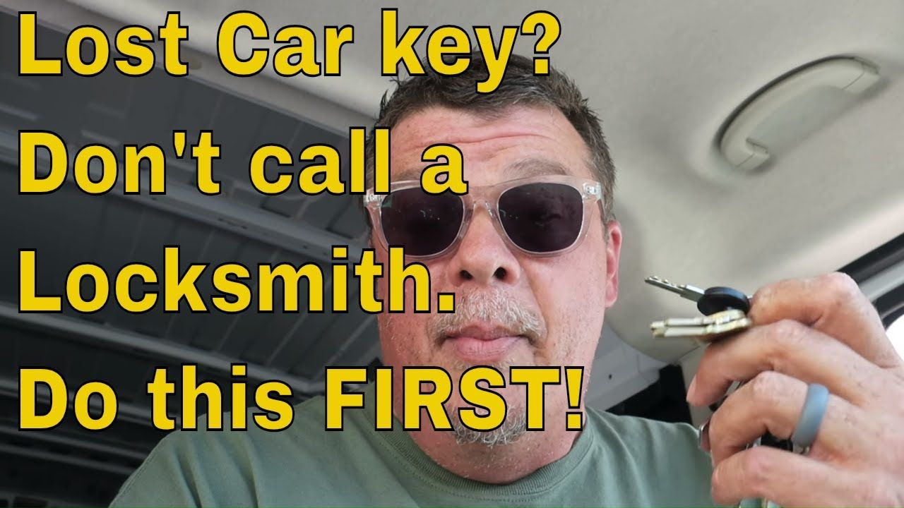 Lost Car key? Don't call a Locksmith. Do this FIRST! Car
