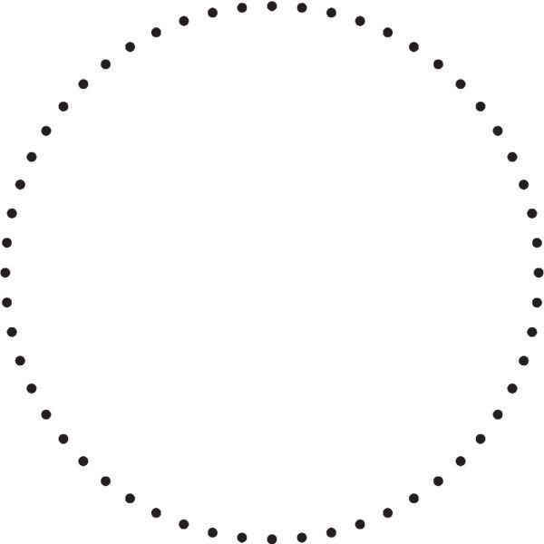 Dotted Circle Dots Circle Borders And Frames