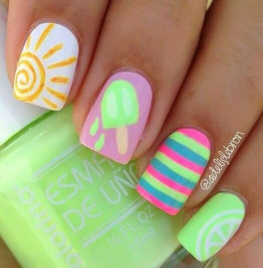 Summer Nail Art Kids Nail Designs Nail Art For Kids Nails For Kids