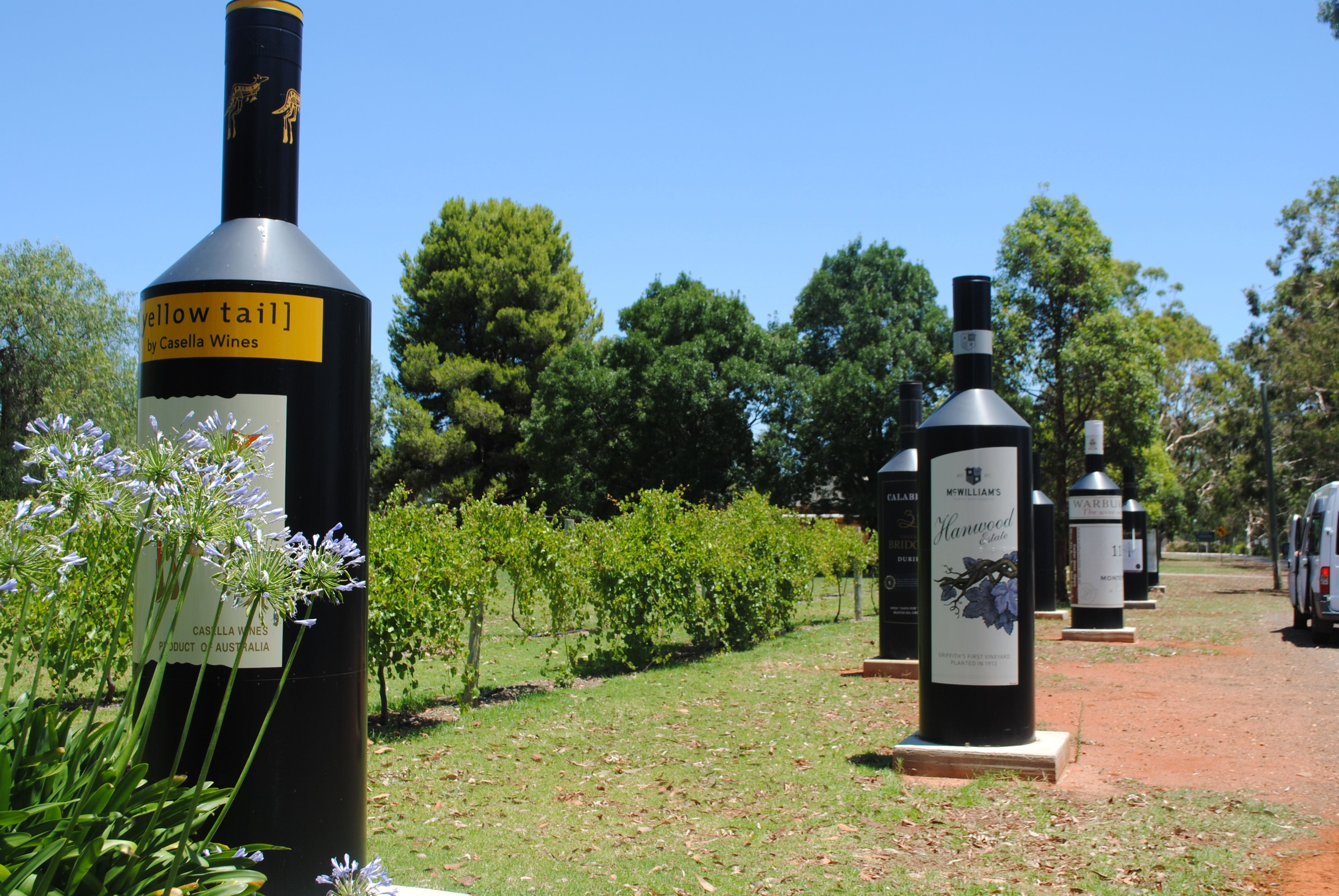 wine bottles in Griffith nsw   big things i have seen in