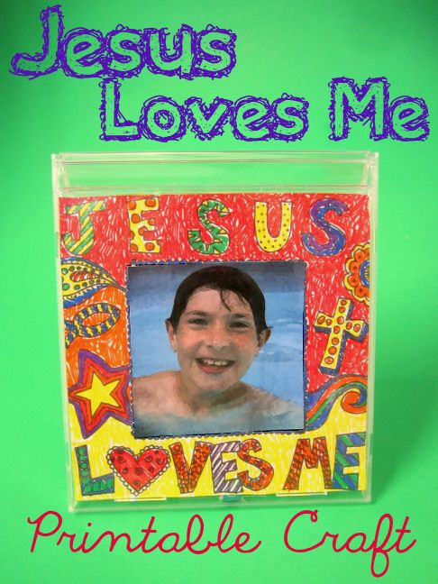 Jesus Loves Me Bible Craft I Love This Idea For Big Kids