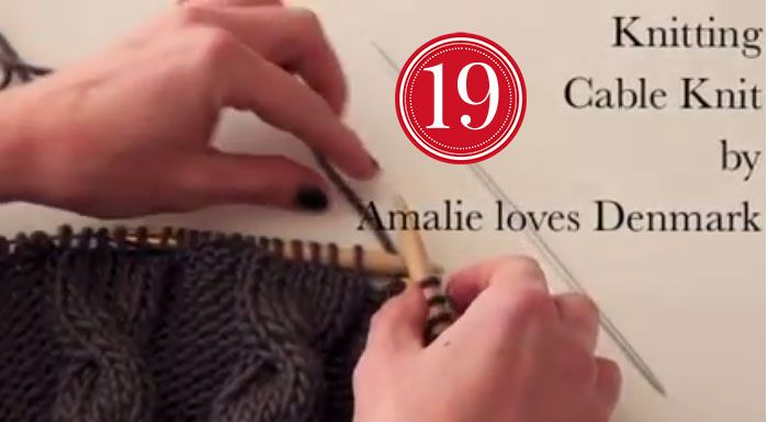 Amalie Loves Denmark Knitting Learn Zopfmuster Video Stricken