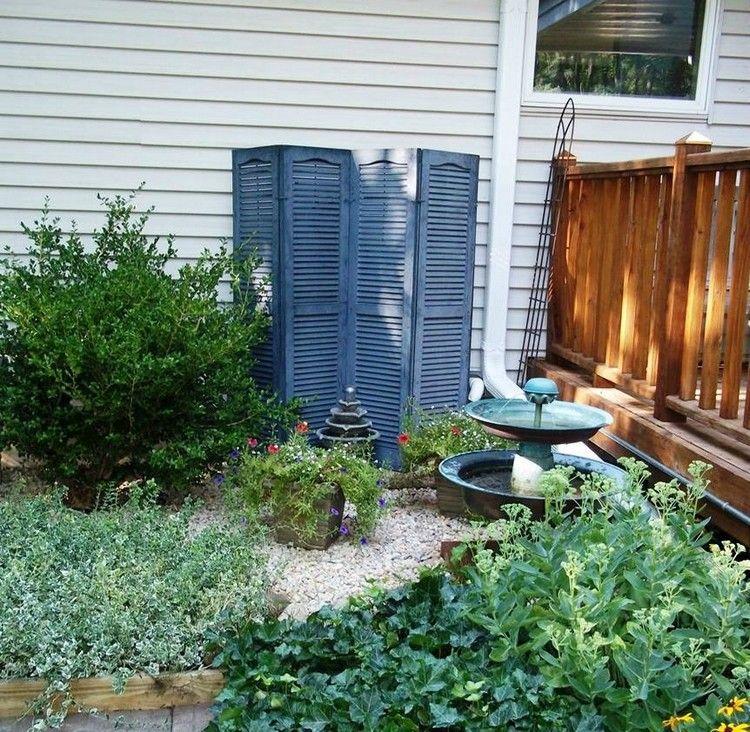 Paravent aus Fensterläden für eine schöne Gartengestaltung | vivre ...