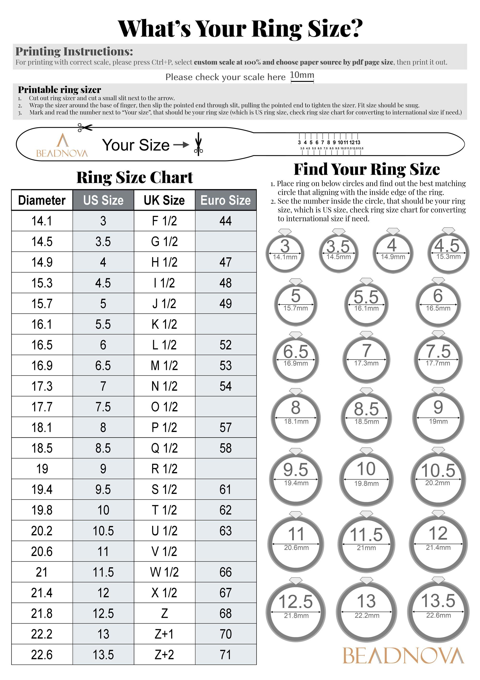What S Your Ring Size In 2020 Printable Ring Size Chart Measure Ring Size Ring Sizes Chart