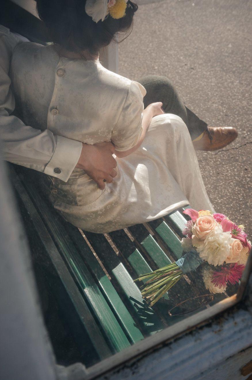 Colourful, Pom-Pommy #VintageInspired #BrightonWedding Tino & Pip Photography