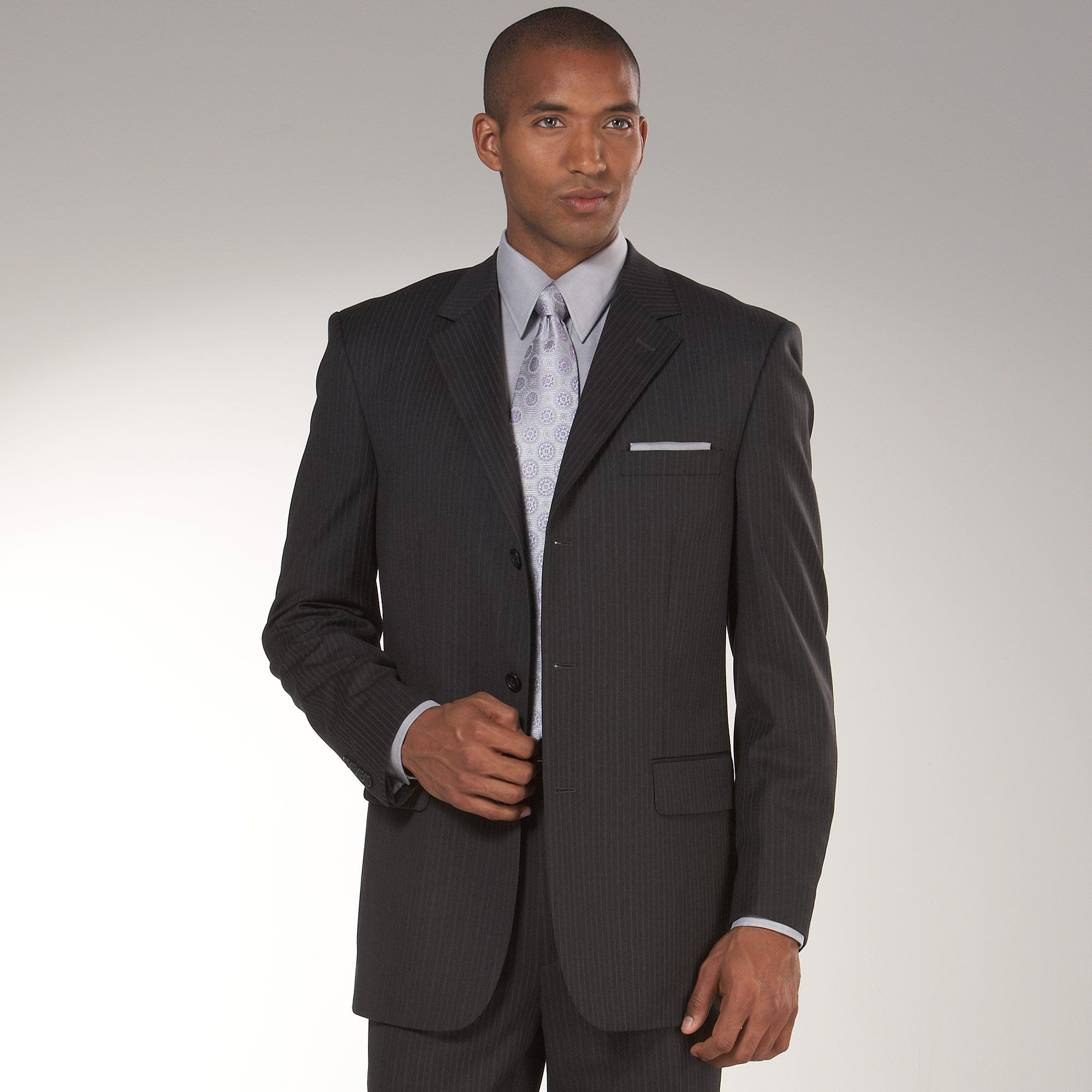 Nice business suit for $449.99. Every man should have a charcoal ...