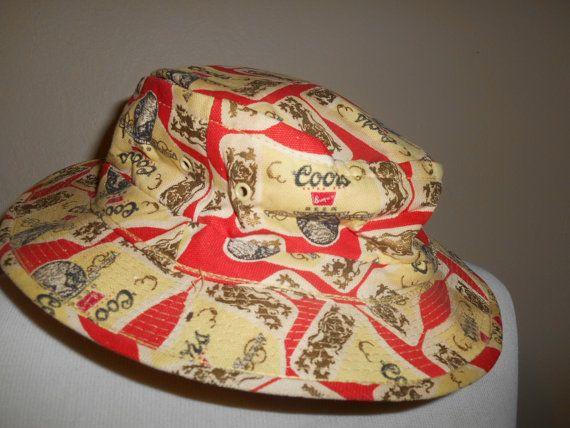 Vintage 70s COORS Beer fisherman hat by ATELIERVINTAGESHOP ... bdd59ba241af