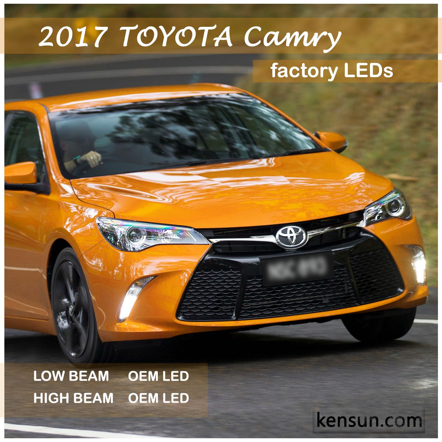 2017 Toyota Camry With Oem Leds Comes With Proprietary Bulbs For