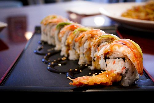if i could pick only one type of food to eat for the rest of my life, it'd probably be sushi.