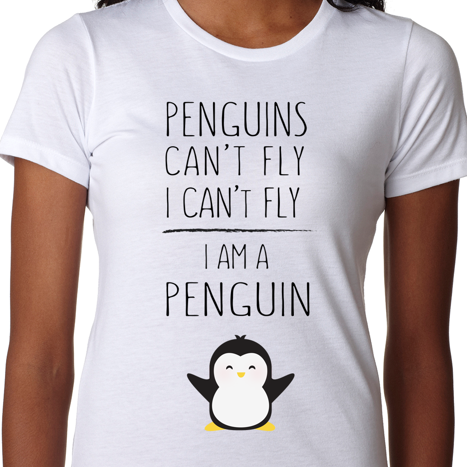 I Am A Penguin Shirt Penguins Penguin Quotes Funny Outfits