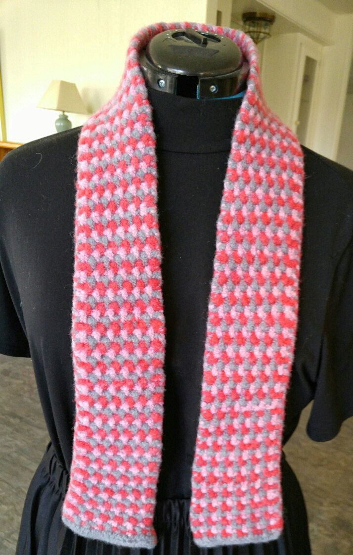 PDF Knitting Pattern Download for the Easy Tricolor Felted Scarf ...