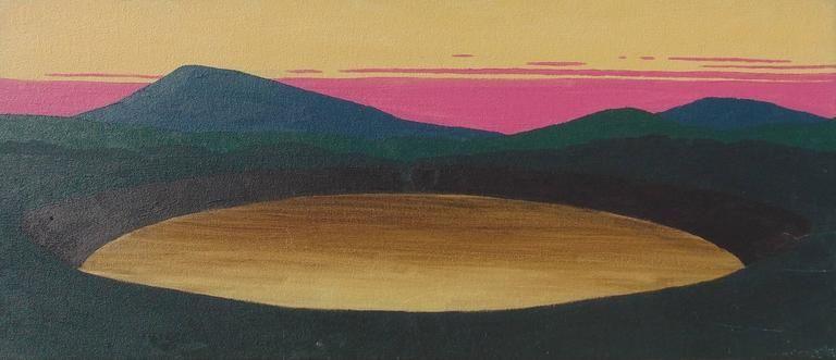 Bill Sullivan El Dorado Guatavita Modern Landscape Oil Painting Of Lake Guatavita Colombia Painting Landscape Paintings Landscape