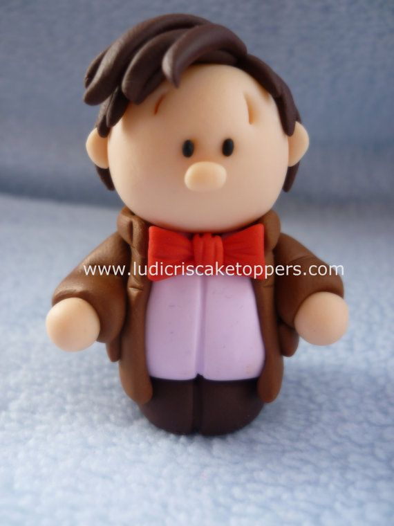 Doctor Who The 11th Doctor Fimo / Polymer clay by LudicrisToppers                                                                                                                                                                                 More