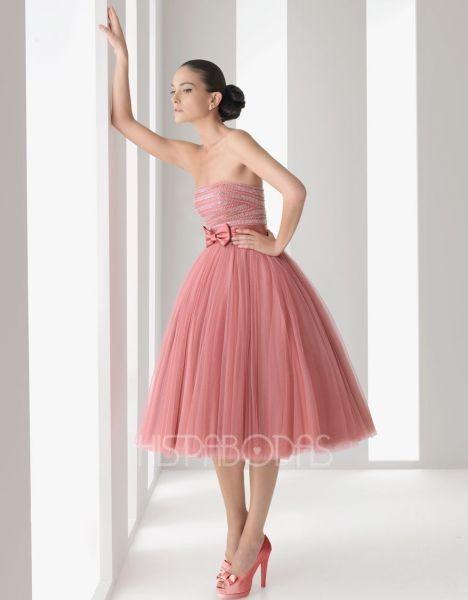 Vestidos fiesta rosa clara 2012
