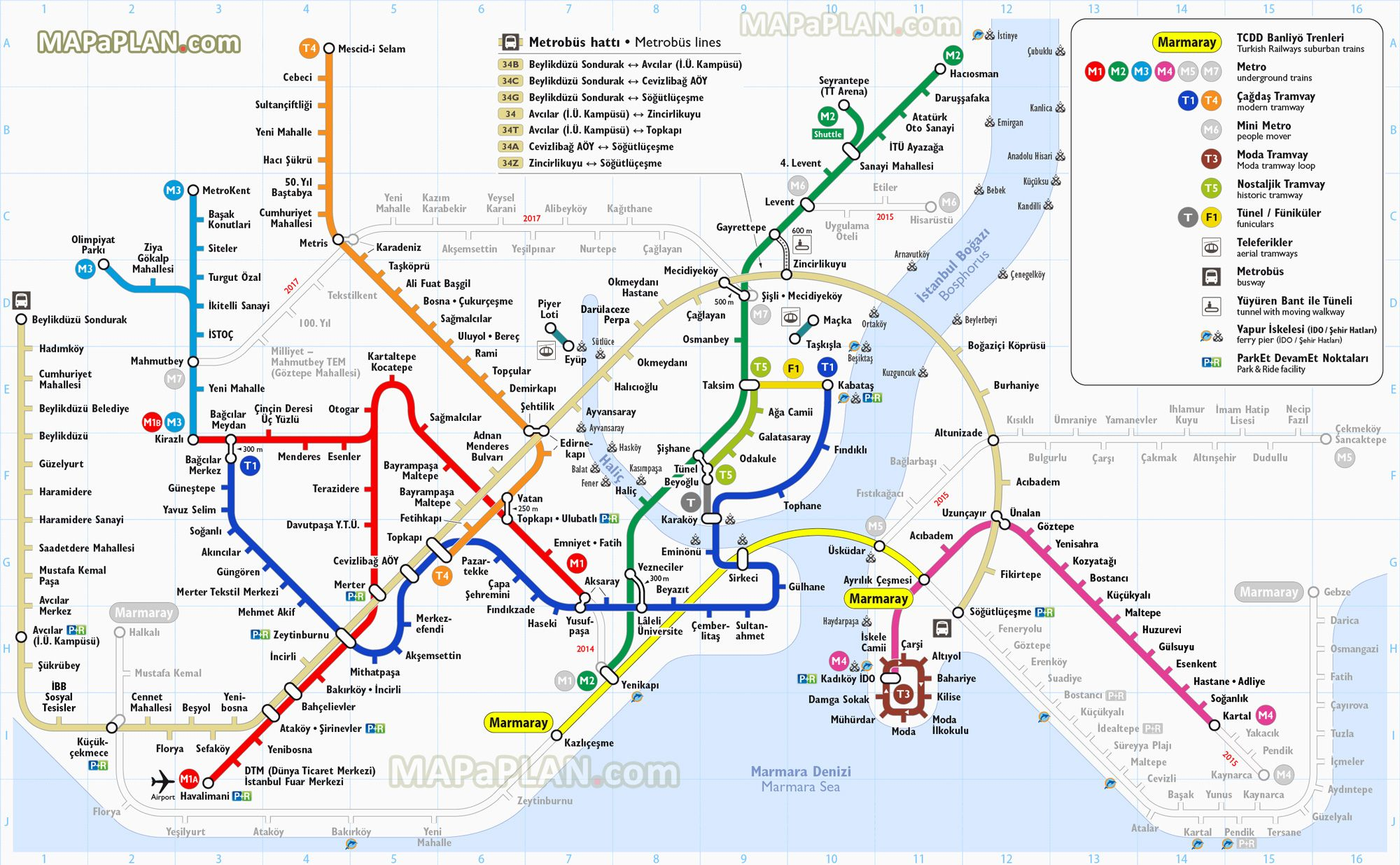 Istanbul Subway Map 2015.Metro Metrosu Railway Train Station Tram Istanbul Ulasim Rapid