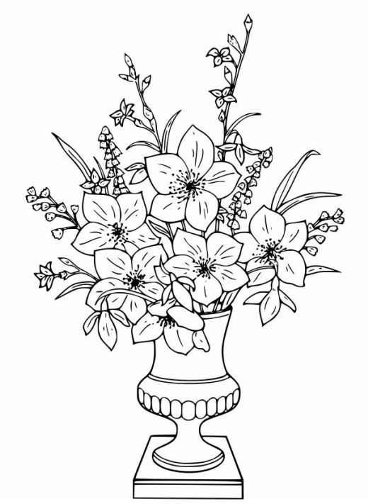 Flowers Flower Coloring Pages Printable Flower Coloring Pages