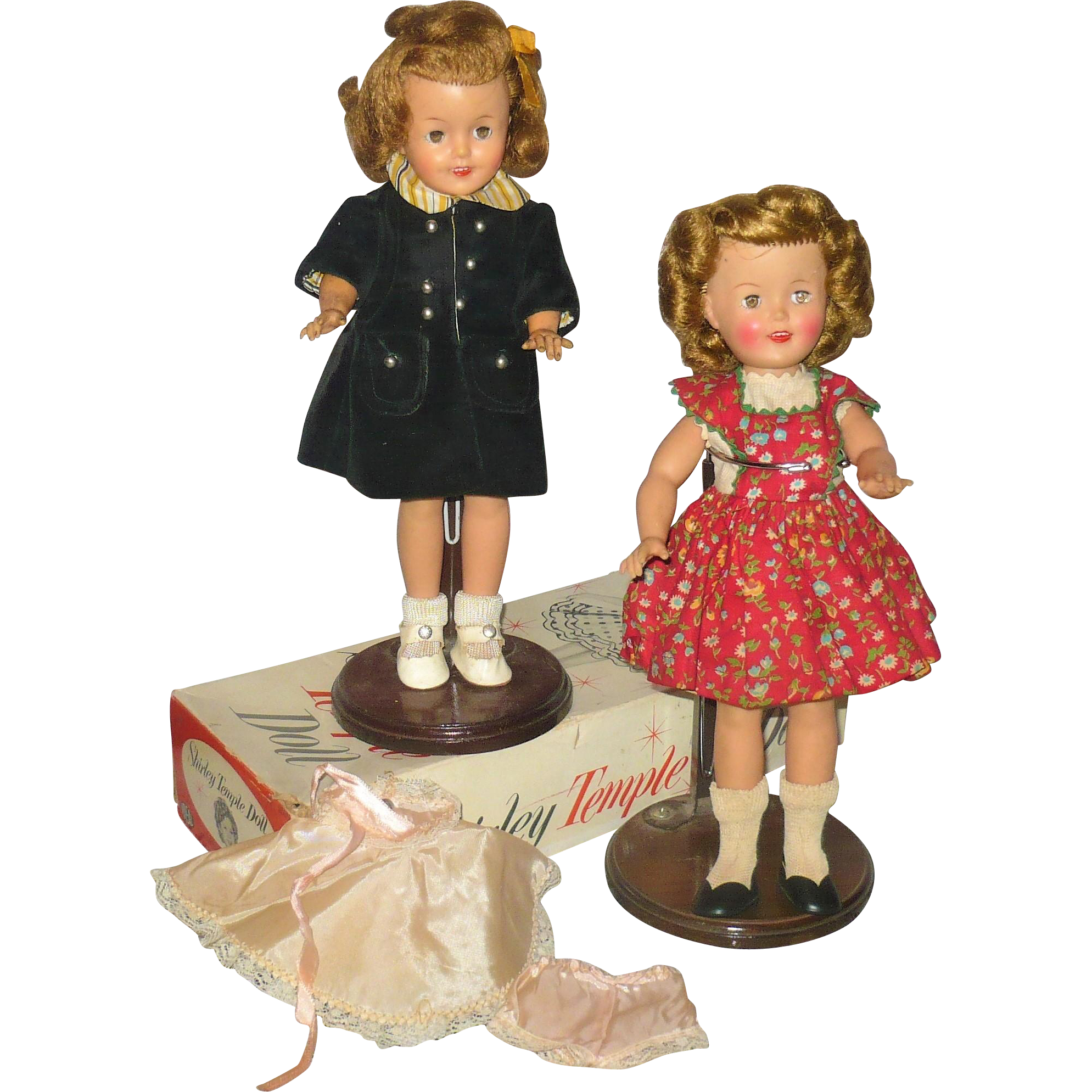 Two 12 Inch 1957 Shirley Temple Dolls With Partial Box Shirley Temple Dolls Shirley