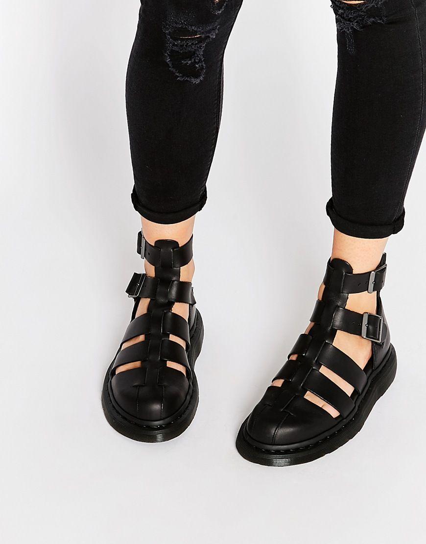 Black sandals grunge - Image 1 Of Dr Martens Shore Reinvented Gladiator Geraldo Ankle Strap Sandals