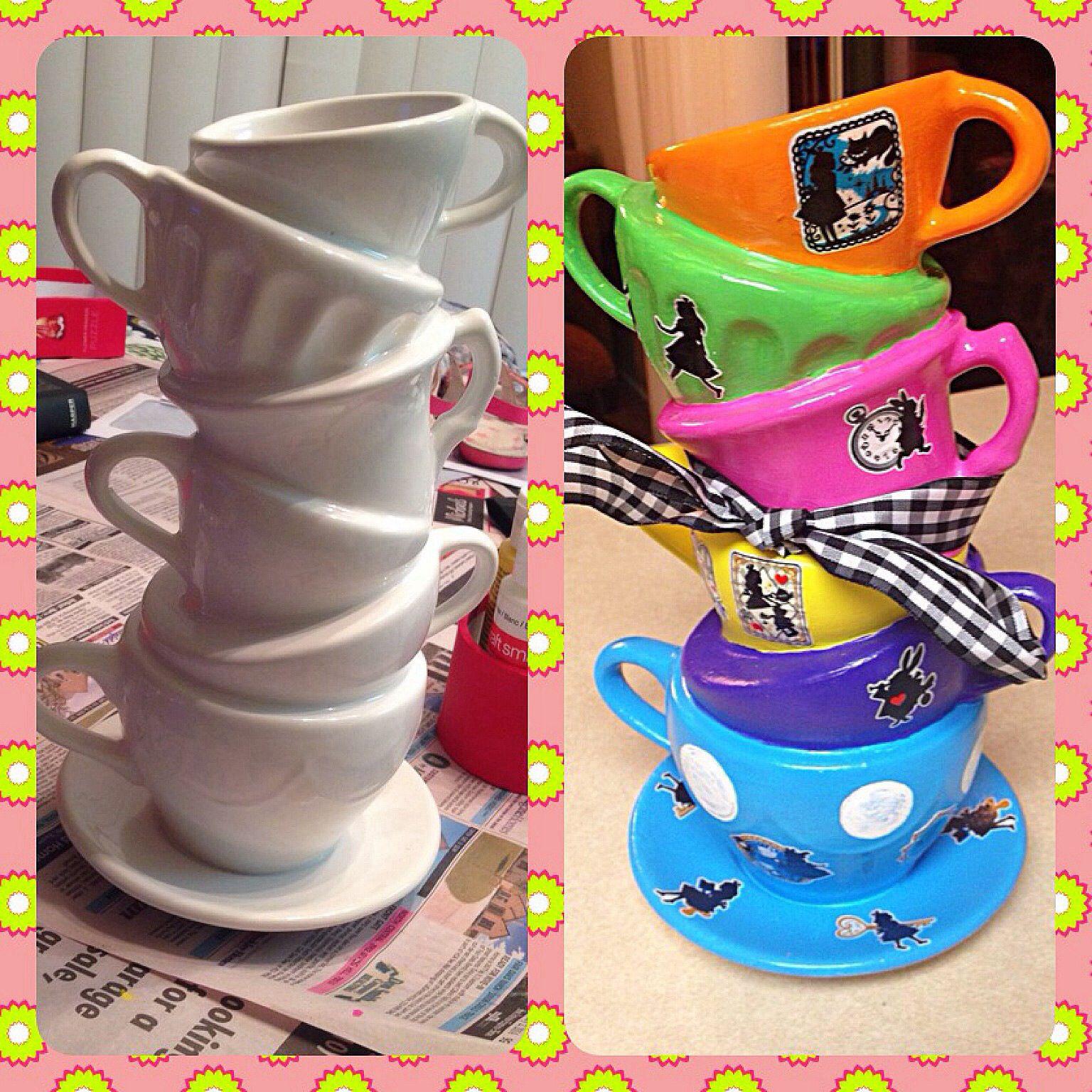 Diy Alice In Wonderland Centerpiece Tableware Park Birthday