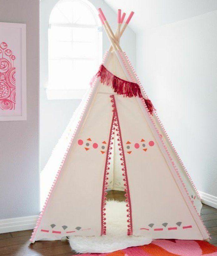 comment fabriquer un tipi 60 id es pour une tente indienne sympa filles tipis tipi pour. Black Bedroom Furniture Sets. Home Design Ideas
