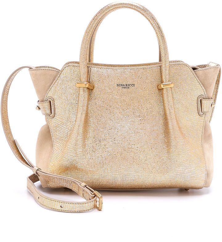 Nina Ricci Metallic Leather Handbag