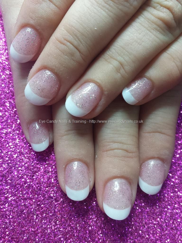 White french polish with gel 20 over acrylic nails | Eye Candy ...