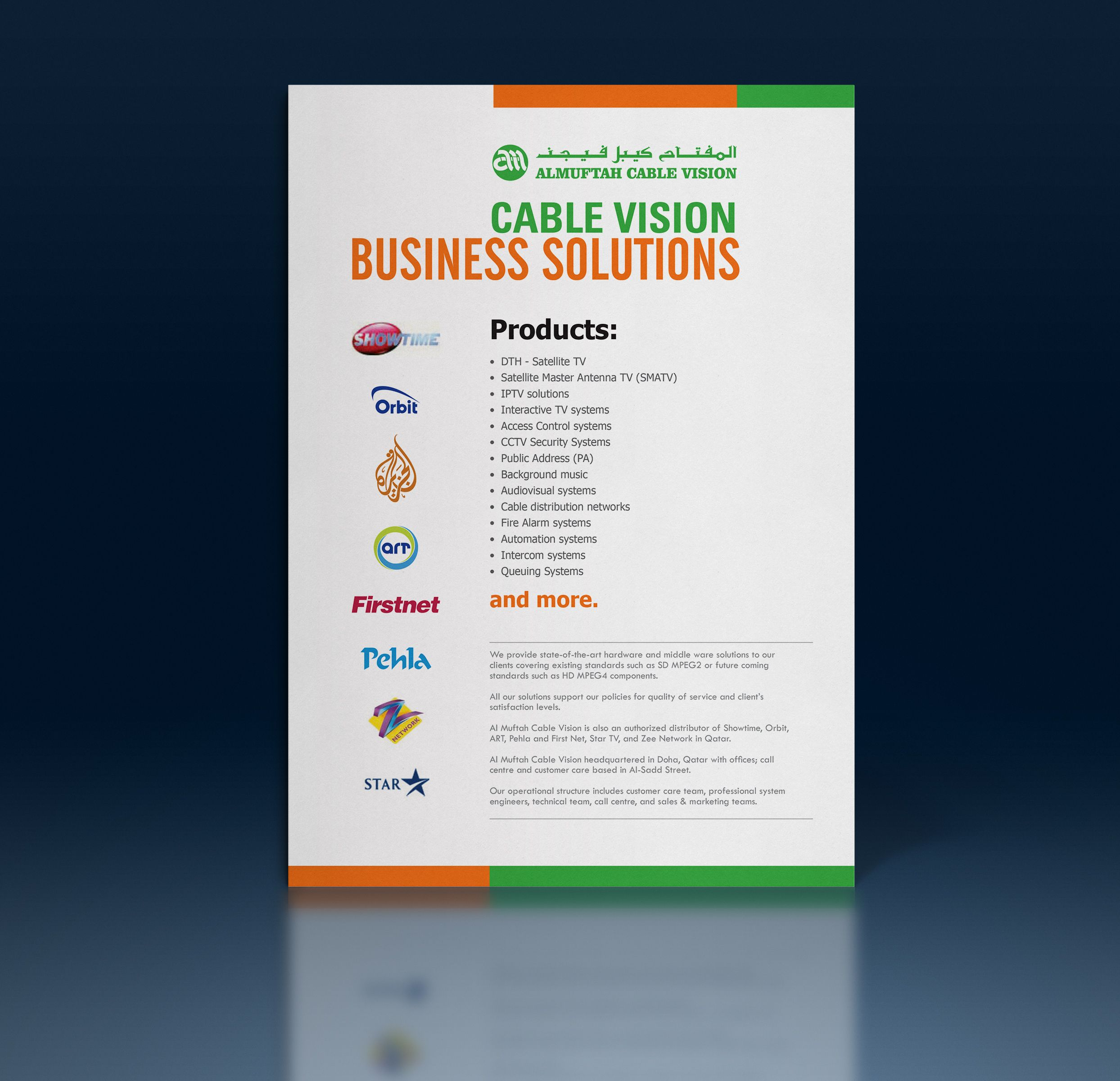 Client: Almuftah Cable Vision, Media Type: Flyer, Applications ...