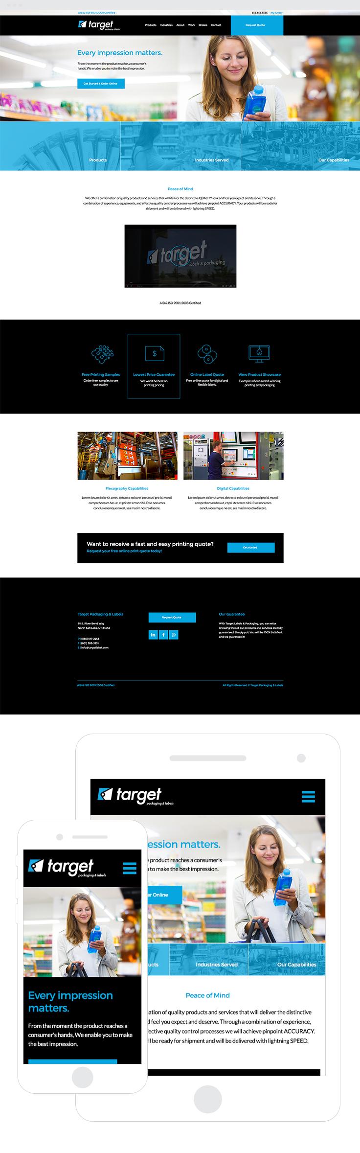 Target Labels Packaging Web Design Development Web Development Design Web Design Digital Web
