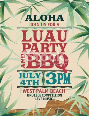 Aloha hawaiian luau party invitation with palm leaves and ukulele aloha hawaiian luau party invitation with palm leaves and ukulele stopboris Gallery