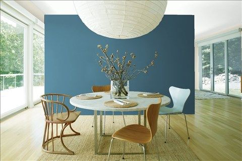 Look At The Paint Color Combination I Created With Benjamin Moore Via Background Wall Azurite Cw 670 Side Wind S Breath Oc 24