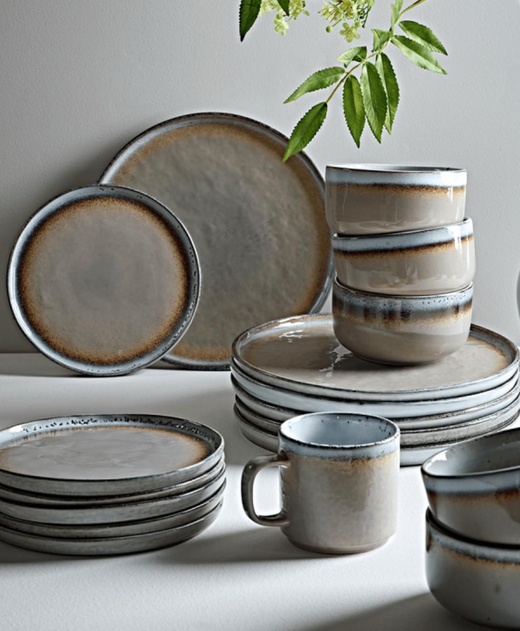 Pottery plates Dish set Ceramic plates