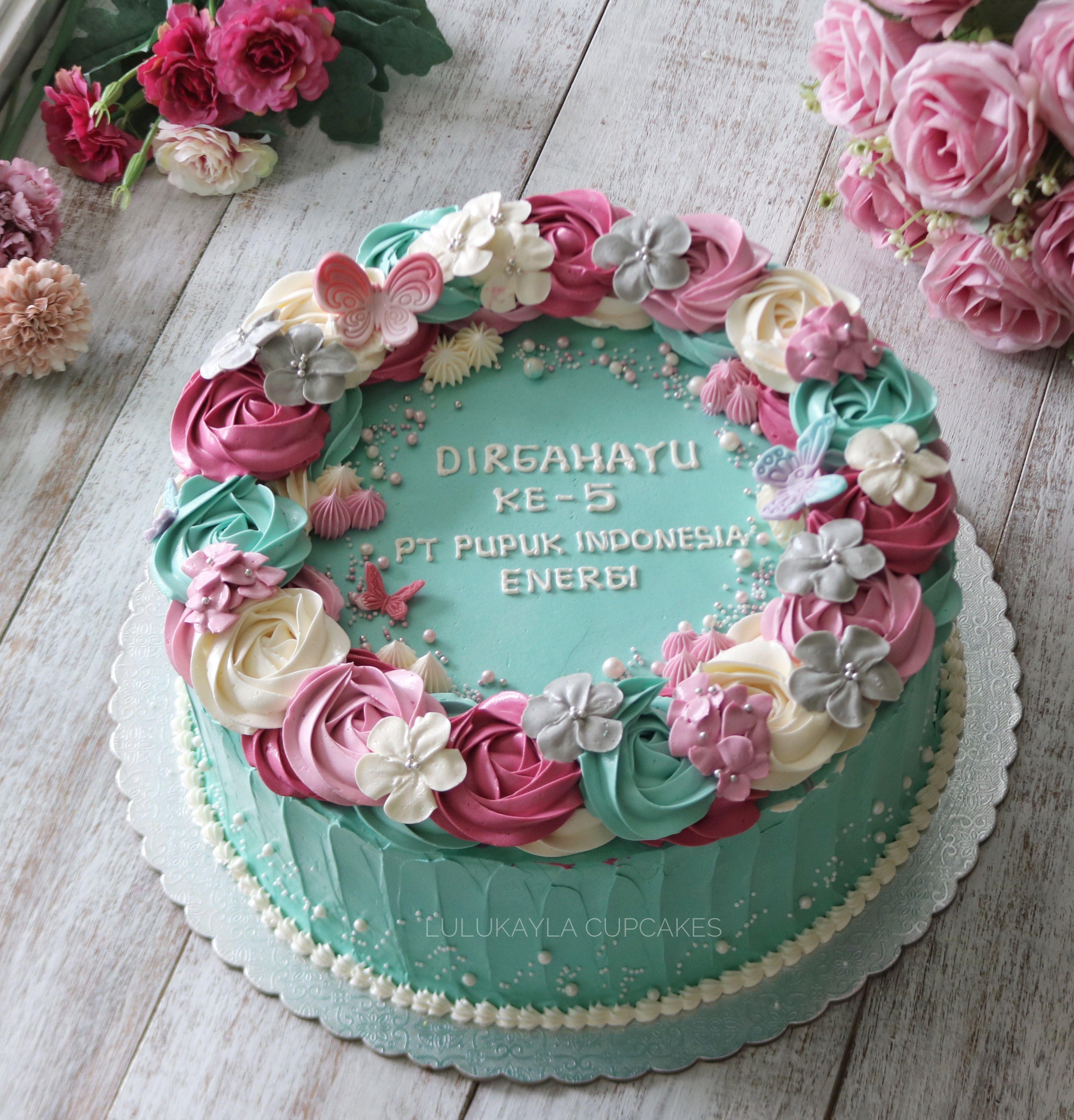 Buttercream Flower Cake Flower Cake Cake Cool Birthday Cakes