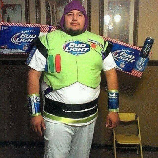 "It's ""Buzz Lightyear"" not ""Bud Light Beer""!! Mens"