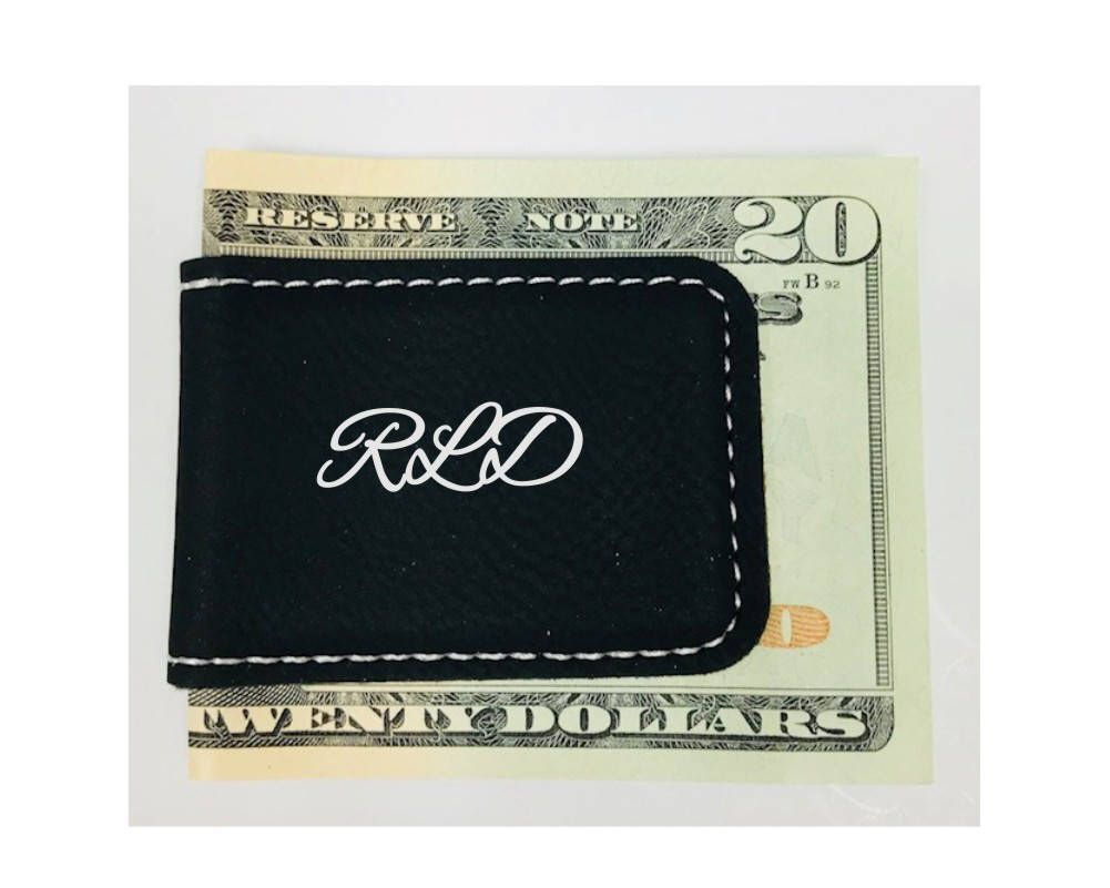 Personalized Engraved Money Clip Groomsman Best Man Gifts Magnetic Brown