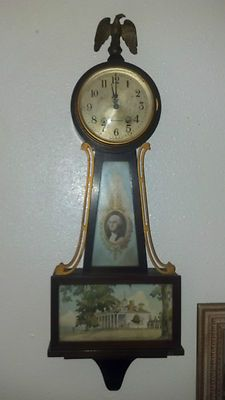 Seth Thomas Antique Vintage George Washington Banjo Wall Clock Antique Clocks Wall Clock Clock Shop