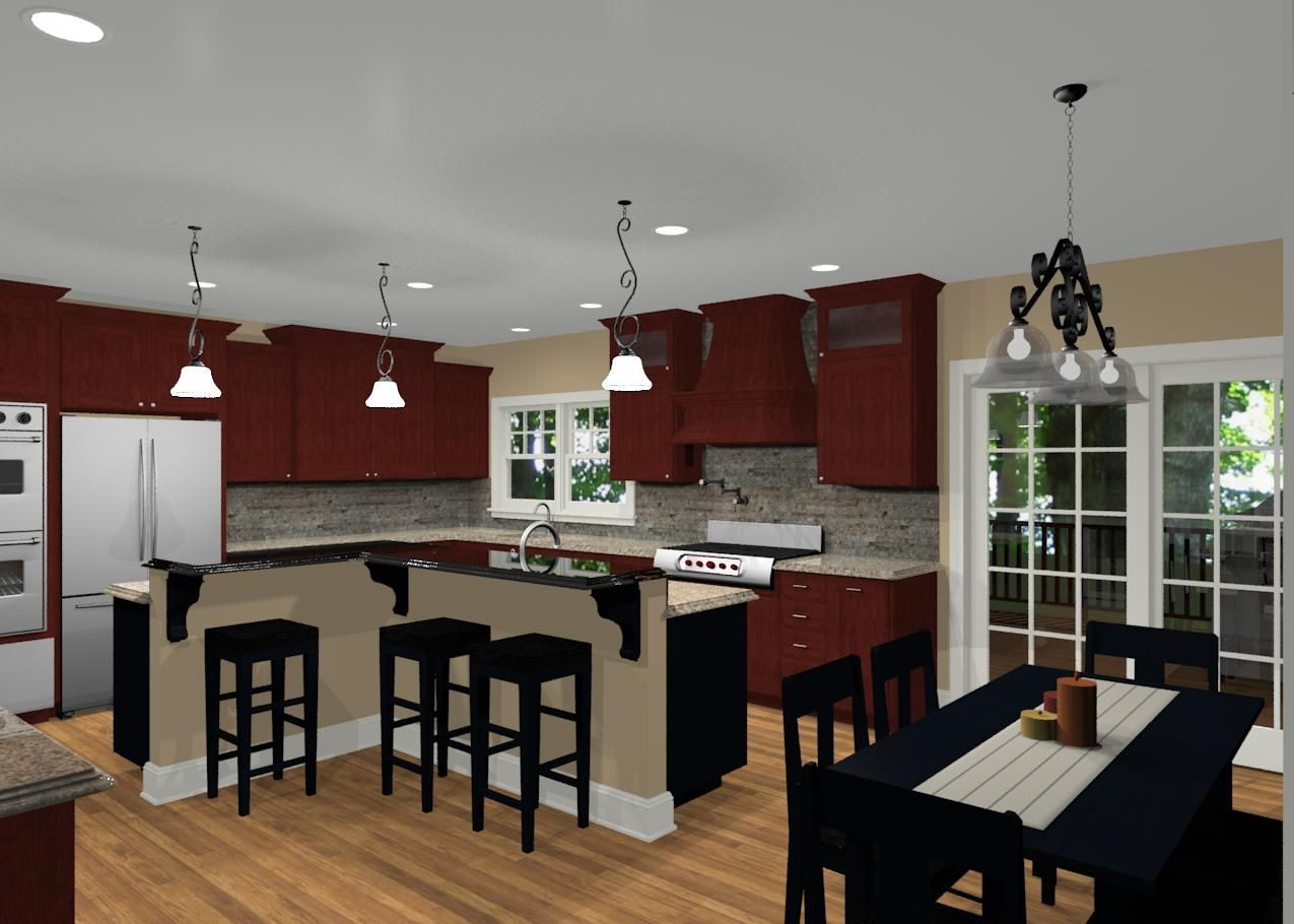 L-shaped Kitchens With Island