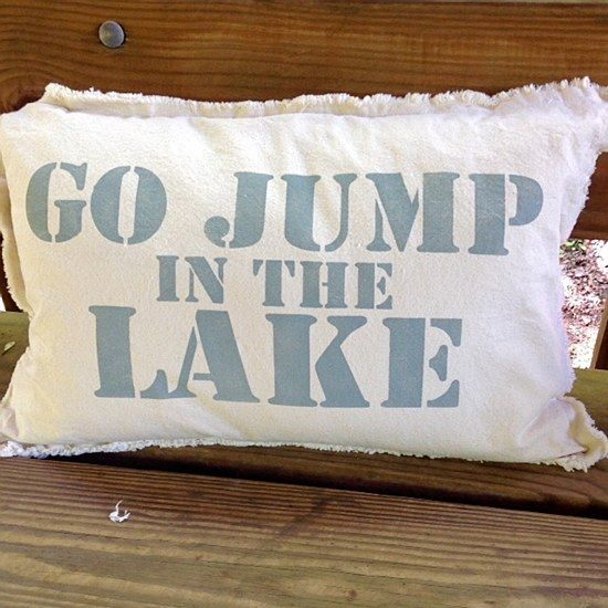 Pillow Go Jump In The Lake 88 00