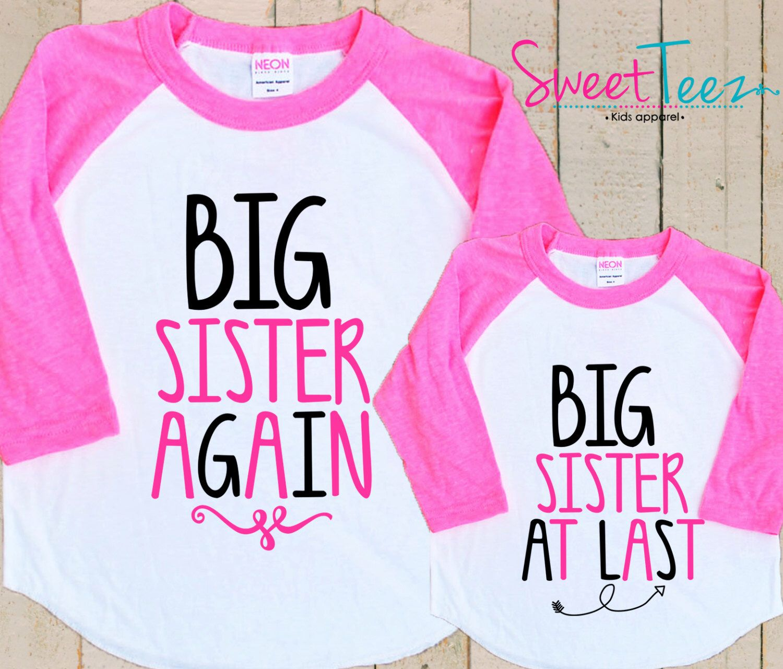 Youth Kids T-shirt Big Sister Finally
