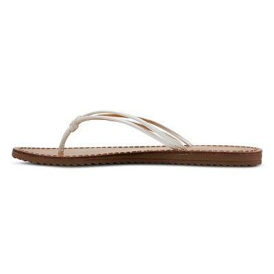 3e4df0e02c1 Women s Jeanette Flip Flop Sandals - Mossimo Supply Co. White 10 ...