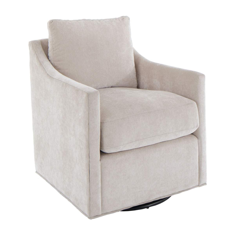 Lola Taupe Swivel Chair In 2020 Shabby Chic Table
