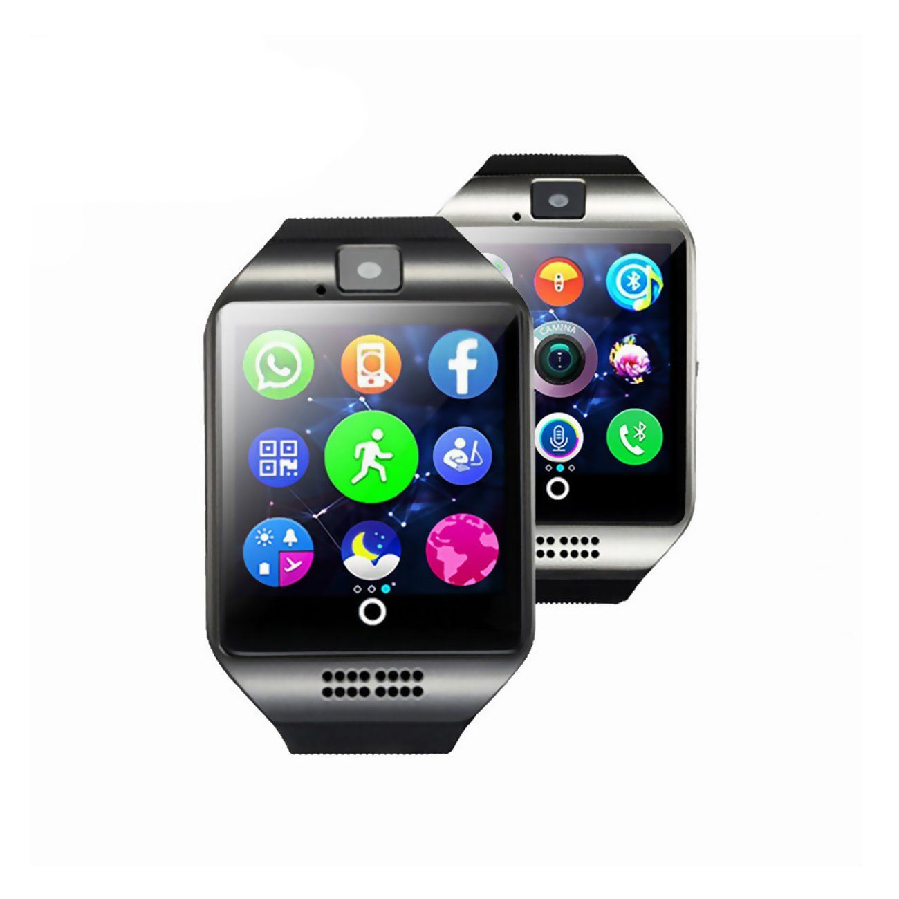 Bluetooth Smart Watch Phone With Camera Tf Sim Card Slot For Android Samsung Galaxy S7 S6 S5 Note 5 Huawei Htc Son Smart Watch Camera Watch Smart Watches Men