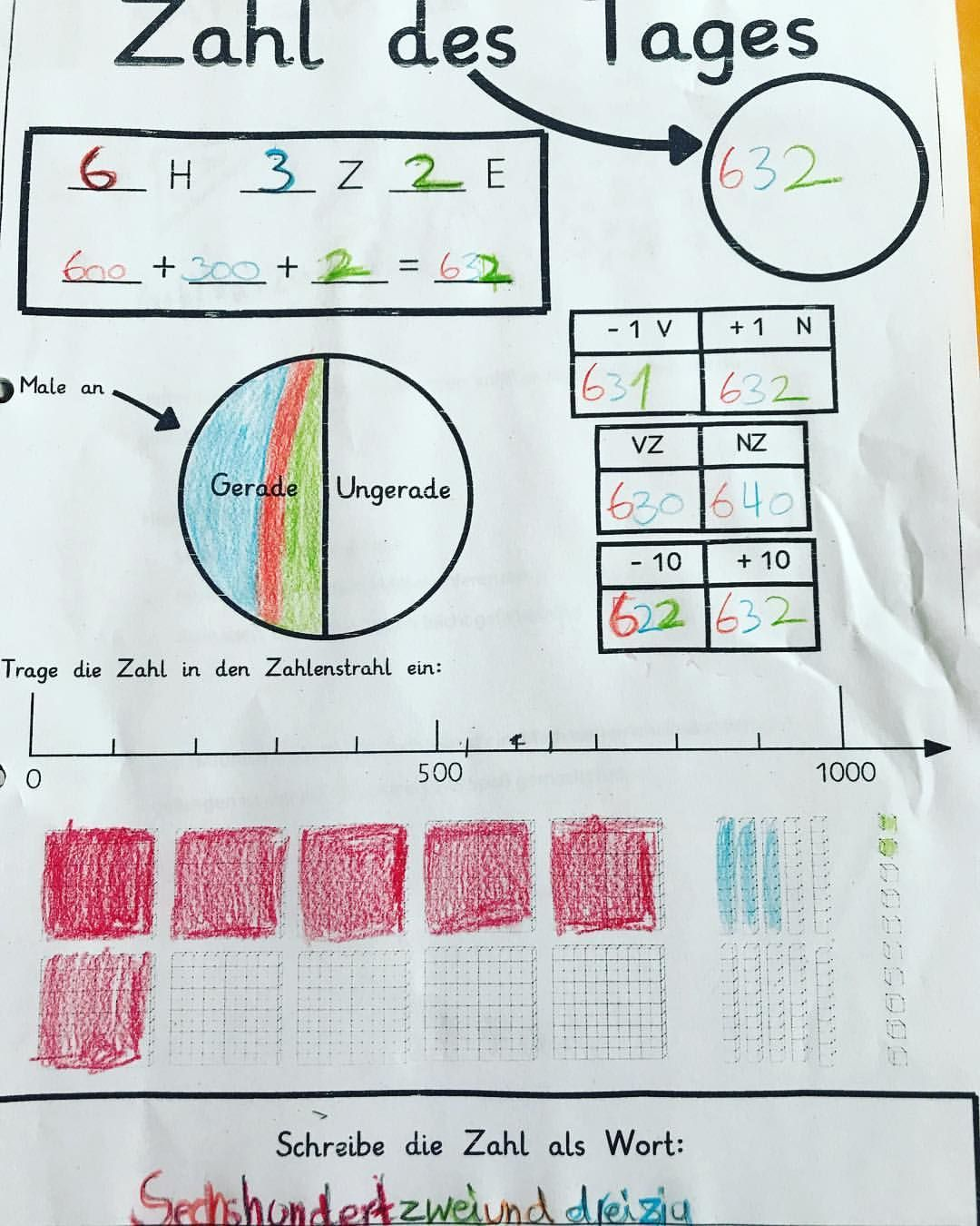Zahl des Tages 🔢 #grundschule #mathematik #mathe #zahldestages ...