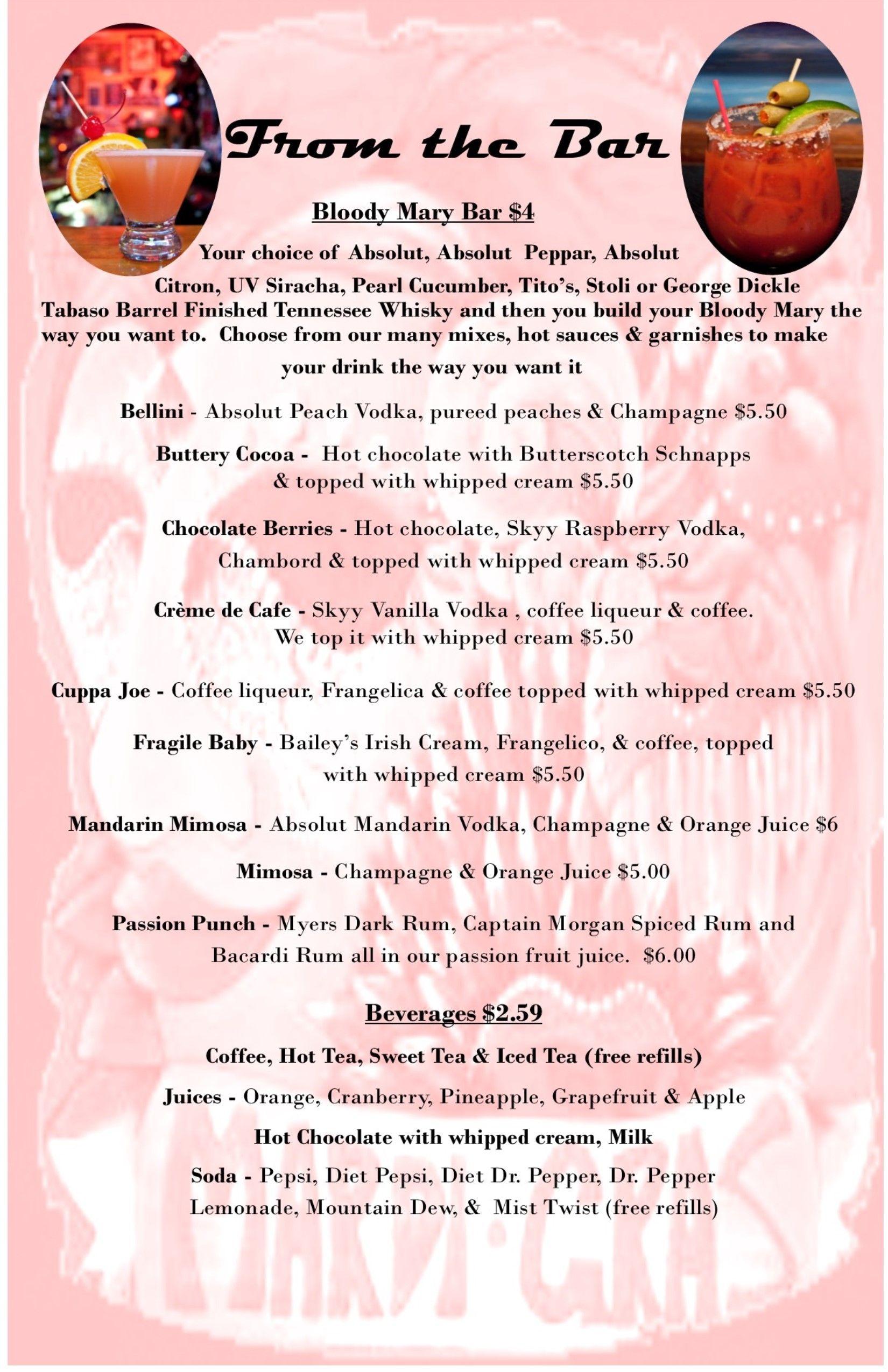 2019 sunday brunch bar menu brunch bar brunch menu brunch