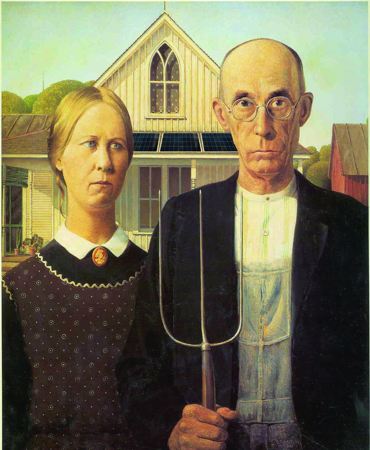 American Gothic with a twist. #solarpv #americangothic #absolute