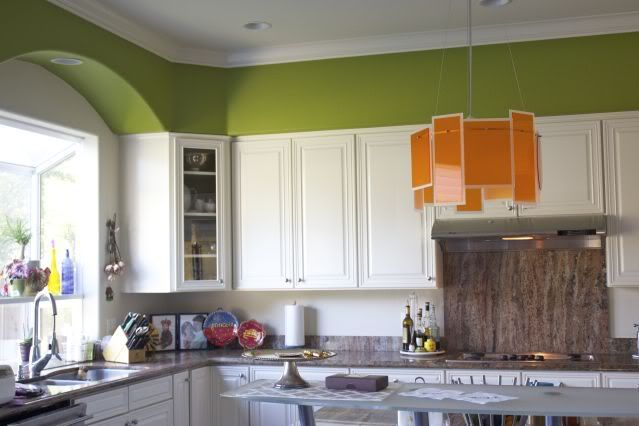 I love the idea of introducing color into the kitchen by