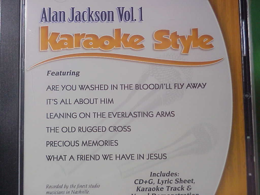 Alan Jackson 1 Daywindkaraoke Style The Old Rugged Cross Cdg