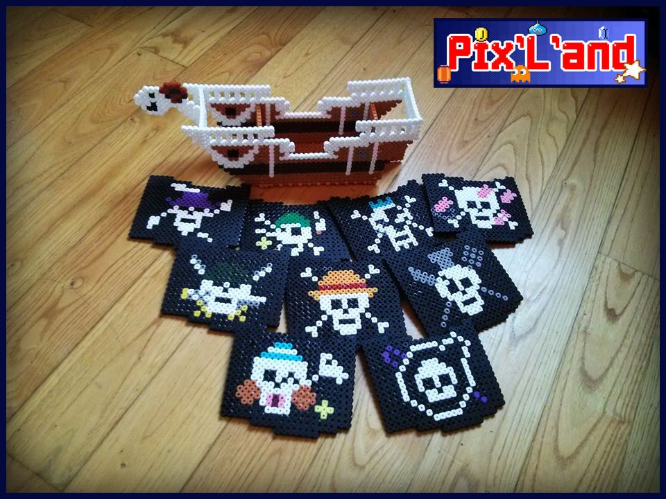 Häufig One Piece coaster set hama perler beads by Pix-l-and | Perler  AP33