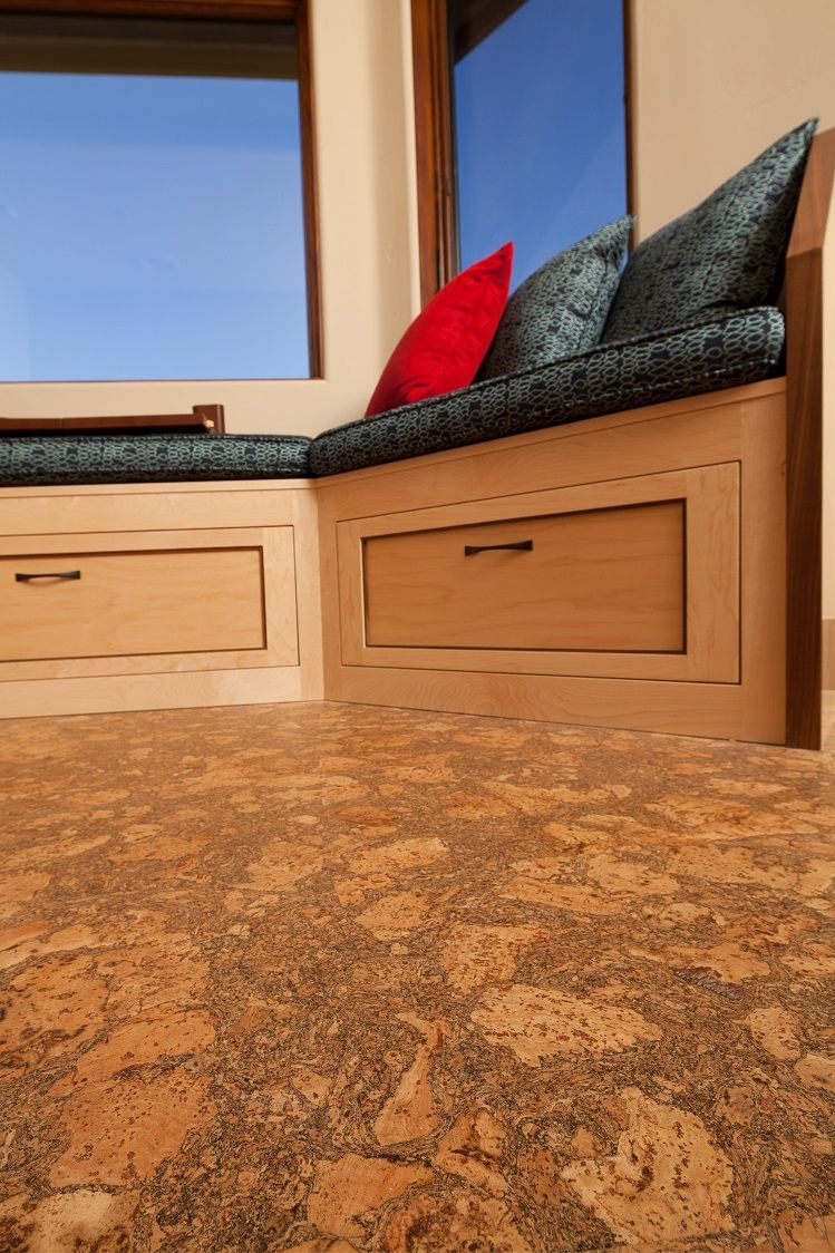 Cork Floor And Fsc Certified Wood Products Custom Cabinetry