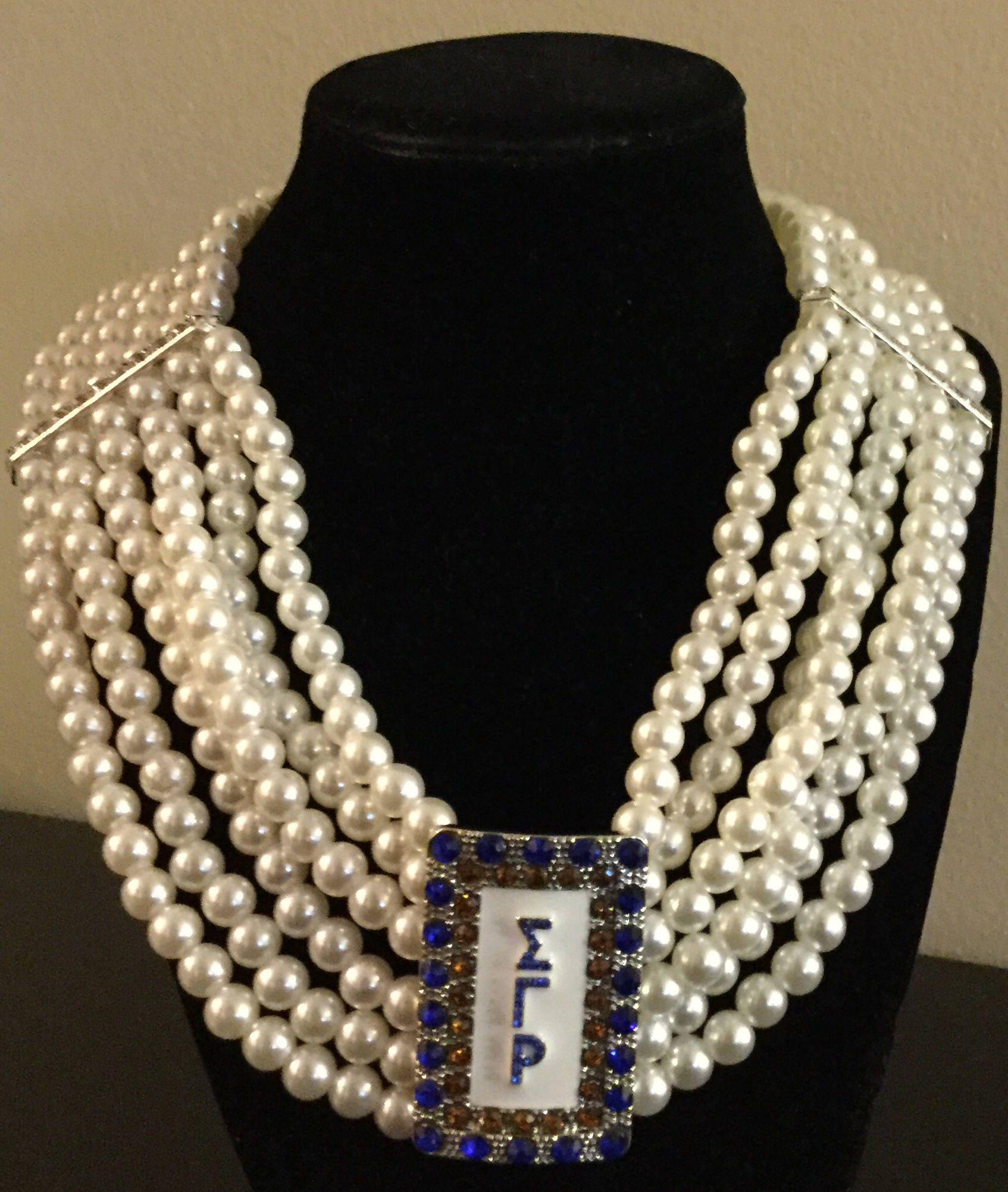 Free shipping multilayered greek sgr sigma gamma rho sorority free shipping multilayered greek sgr sigma gamma rho sorority symbol white pearl royal gold crystal jewelry biocorpaavc