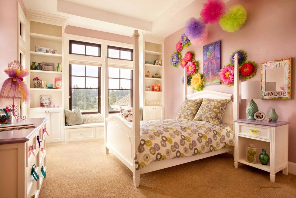 Small Room Ideas for Girls with Cute Color Toddler Bedroom Eas